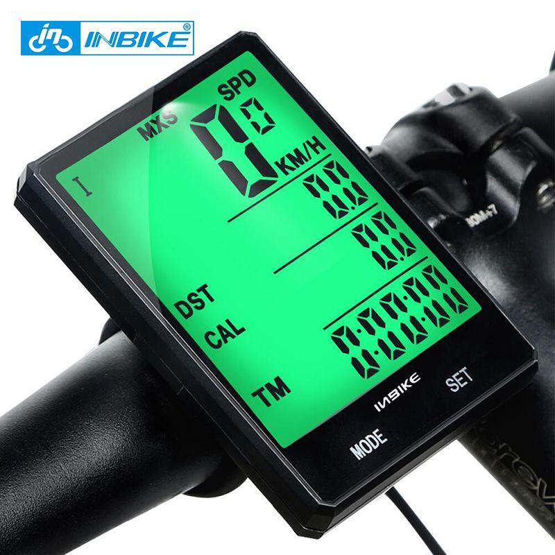 INBIKE 2.8inch Bike Wireless Computer Rainproof Multifunction Riding Bicycle <font><b>Odometer</b></font> Cycling Speedometer Stopwatch Backlight
