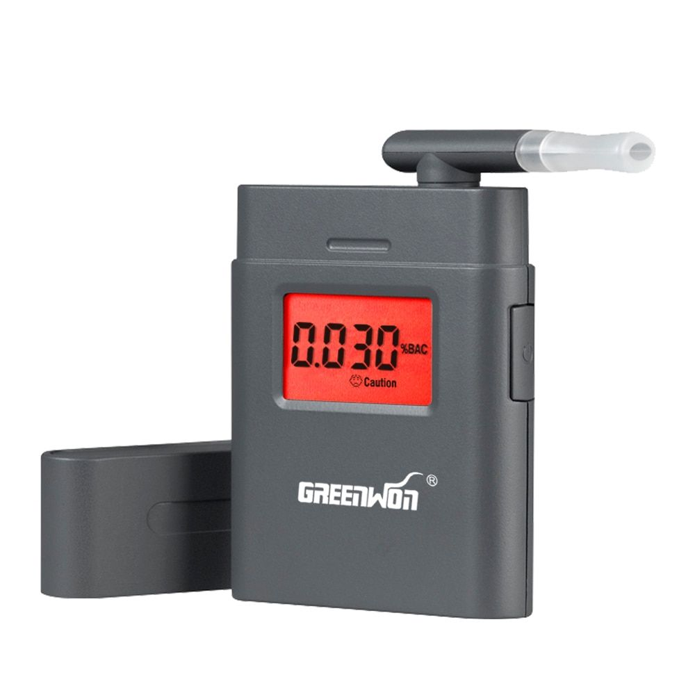 hot!! new design mini digital alcohol meter with 360 degree rotating mouthpiece/ dual display alcohol breath tester AT/838