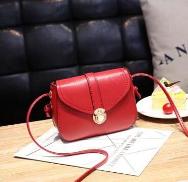 2018 Franbrani tui Hot handbag PU pure color single shoulder bag lady temperament small square Bag Satchel A