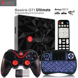 Beelink GT1 Ultime TV Box 3G 32G Amlogic S912 Octa Core CPU DDR4 2.4G + 5.8G Double WiFi Android 7.1 Set Top Box Media lecteur