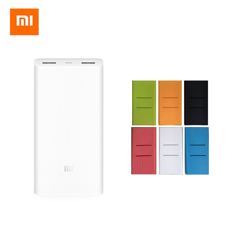 Original Xiaomi Mi 20000 mAh Power Bank 2 2C Dual USB Ports QC 3.0 Two-way Quick Charge Portable Universal 20000mAh Powerbank