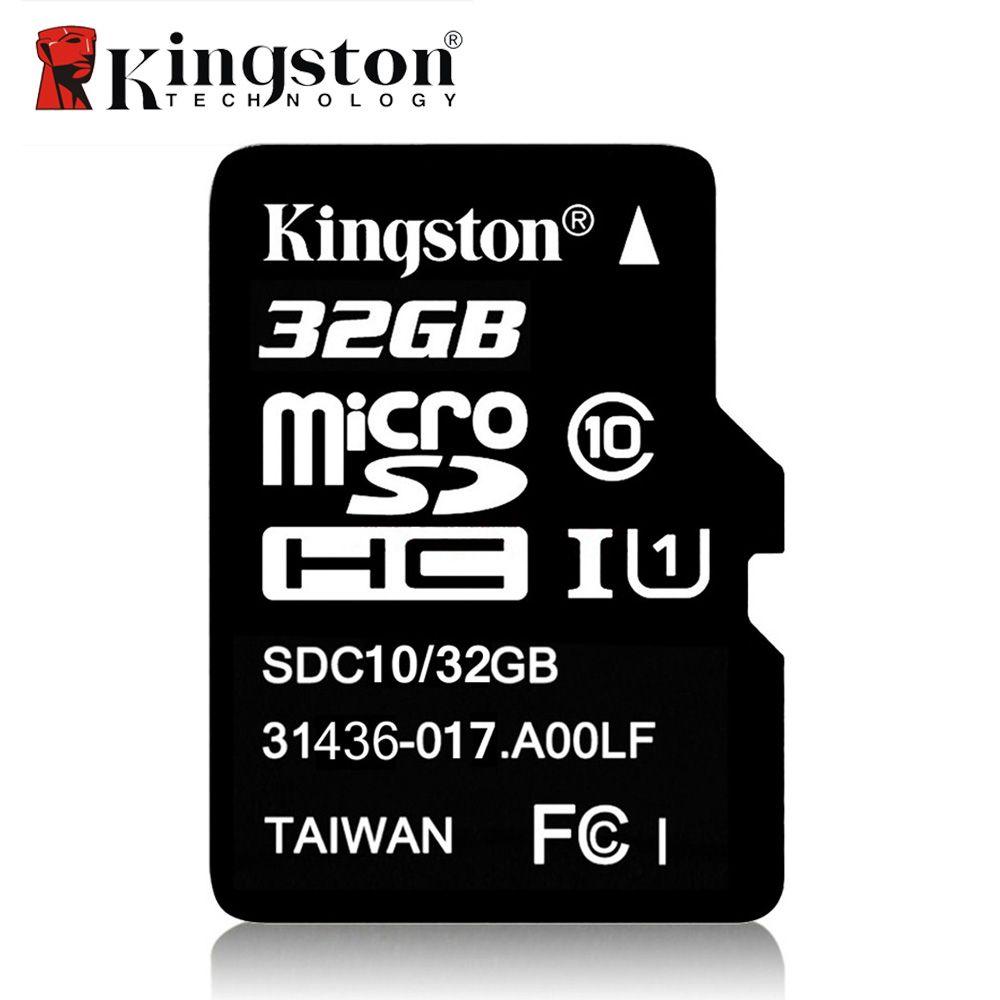 Kingston Micro SD Carte 8 GB 16 GB 32 GB 64 GB Classe 10 Microsd Carte mémoire Tarjeta SDHC SDXC Micro SD TF Carte Pour Téléphone caméra