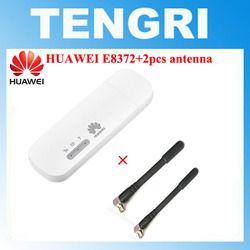Unlocked Huawei E8372 E8372h-153 E8372h-608 with 2pcs Antenna 150M LTE USB Wingle LTE 4G USB WiFi Modem dongle car wifi PK E3372
