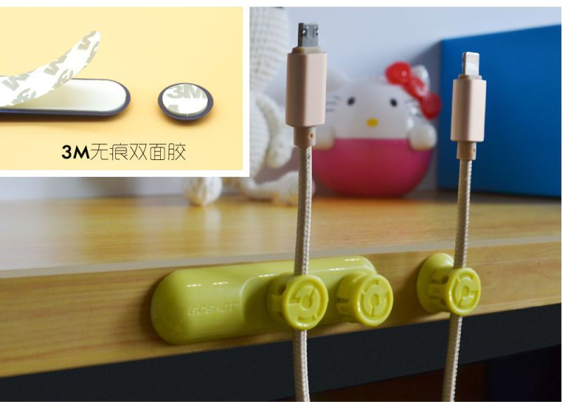 10pcs/lot Earphone Magnetic Cable Winder USB Charger Line Cord Wrap Organizer Holder Tidy cable For iPhone Samsung HTC Xiaomi