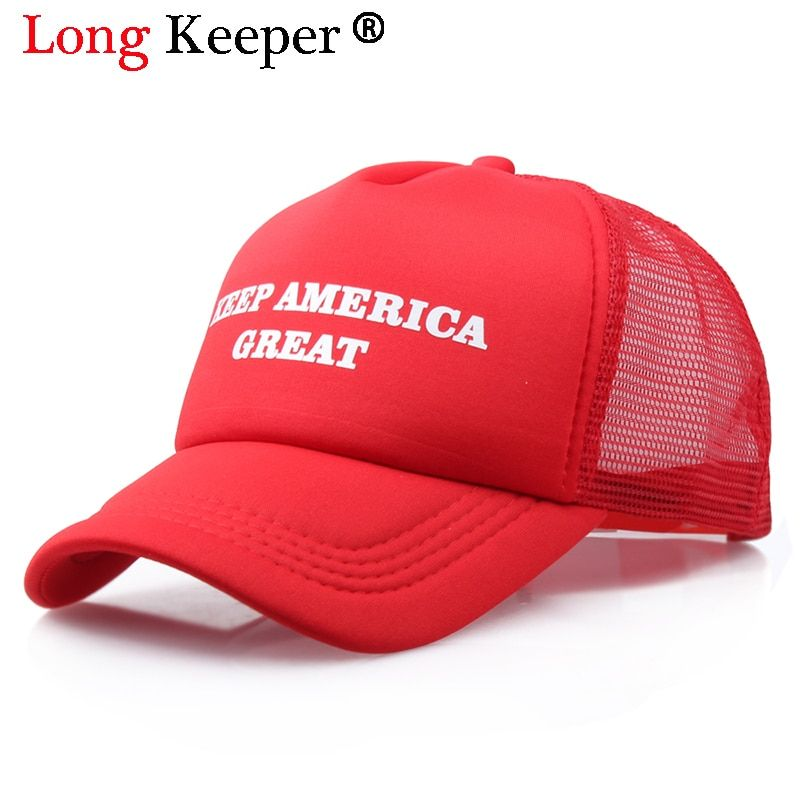 Cool New Donald Trump Red Hat Re-Election Keep America Great Spring Summer Cool Baseball Mesh Caps Adjustable Sport Hat