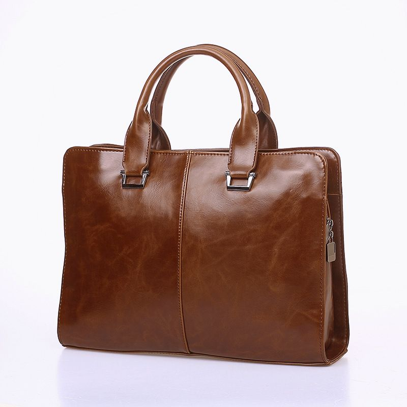 Briefcases Office Bags For Men Business Computer Bag austere Vintage PU Leather Briefcases Business Office Men Bags For ipad
