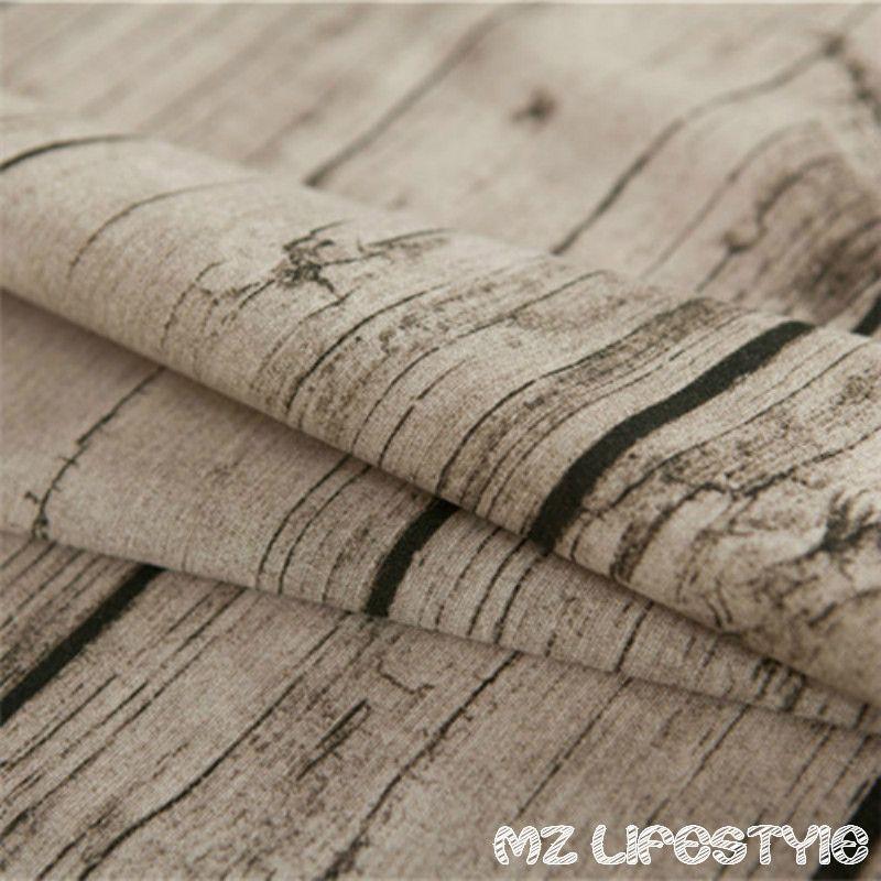 100*145 см ретро винтаж обивочные рисунок древесины хлопок белье Ткань по счетчику хлопок конопли Ткань домашнего текстиля швейной ткань