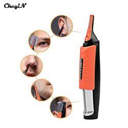 Ckeyin Lampu LED Multifungsi Hidung Rambut Trimmer Pria Alis Sideburn Telinga Rambut Pemindahan Mesin Potong Rambut dengan 4 Sisir S38
