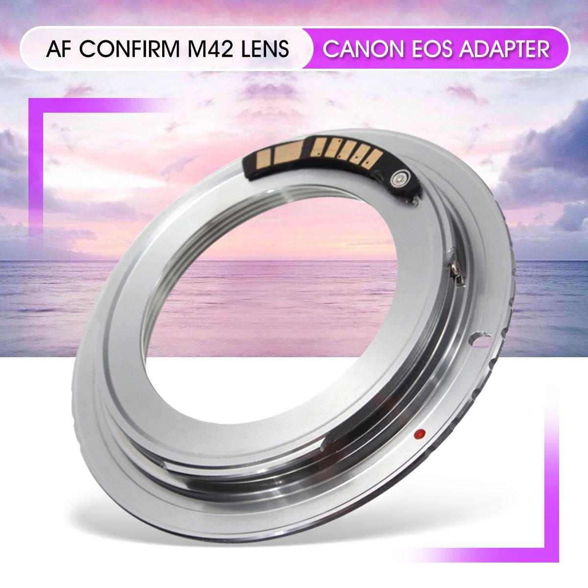 1 pièces En Laiton AF Confirm Puce M42 Lentille pour Canon EOS Monture Adaptateur 60D 50D 40D 600D 550D 500D Argent