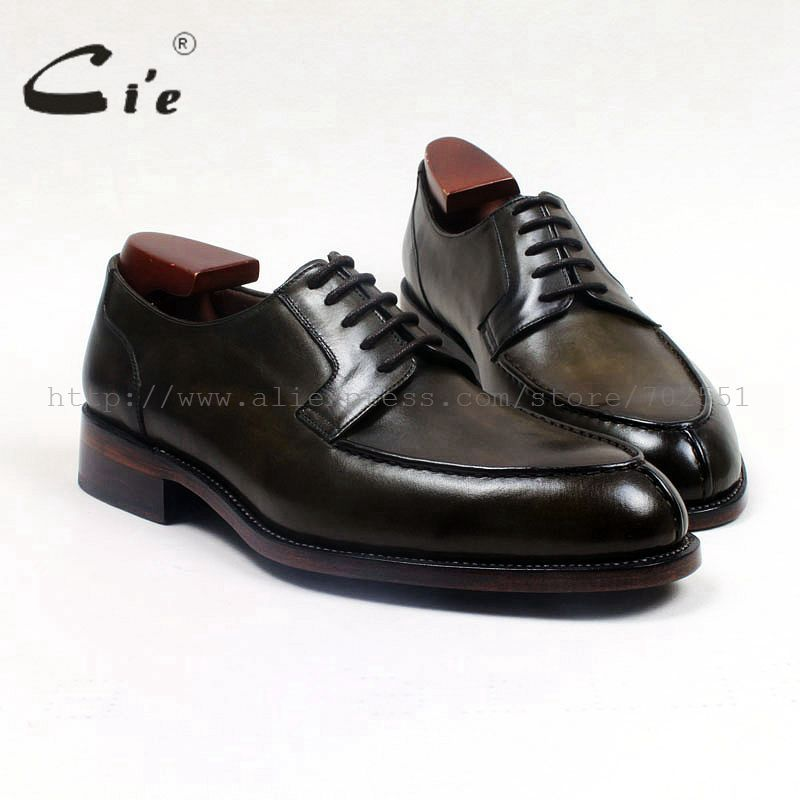 cie round toe custom bespoke men shoe handmade leather men's shoe goodyear welted business working office calf leather flat D159