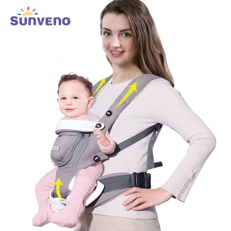 SUNVENO Ergonomic Baby <font><b>Carrier</b></font> Breathable Front Facing Infant Baby Sling Backpack Pouch Wrap Baby Kangaroo For Baby 0-12 Months