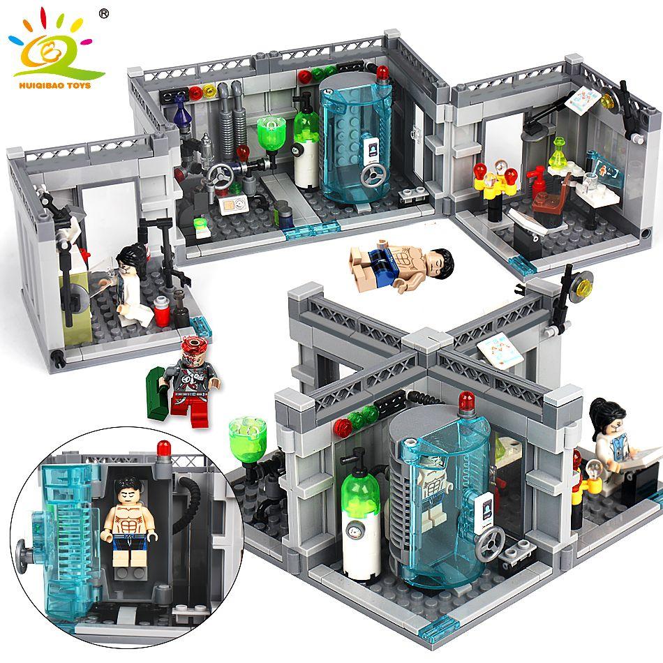 City Police Biochemical Lab Series Building Blocks Compatible Legoed technic classic Figures Enlighten bricks toys for Children