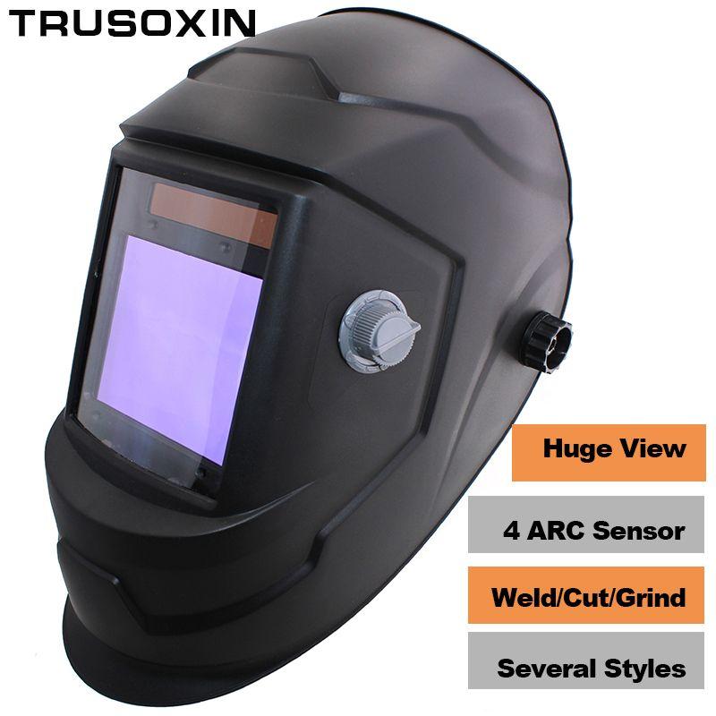 NEW Clown Big View Eara 4 Arc Sensor DIN5-DIN13 Solar Auto Darkening TIG MIG MMA Grinding Welding Mask/Helmet/Welder Cap/Glasses