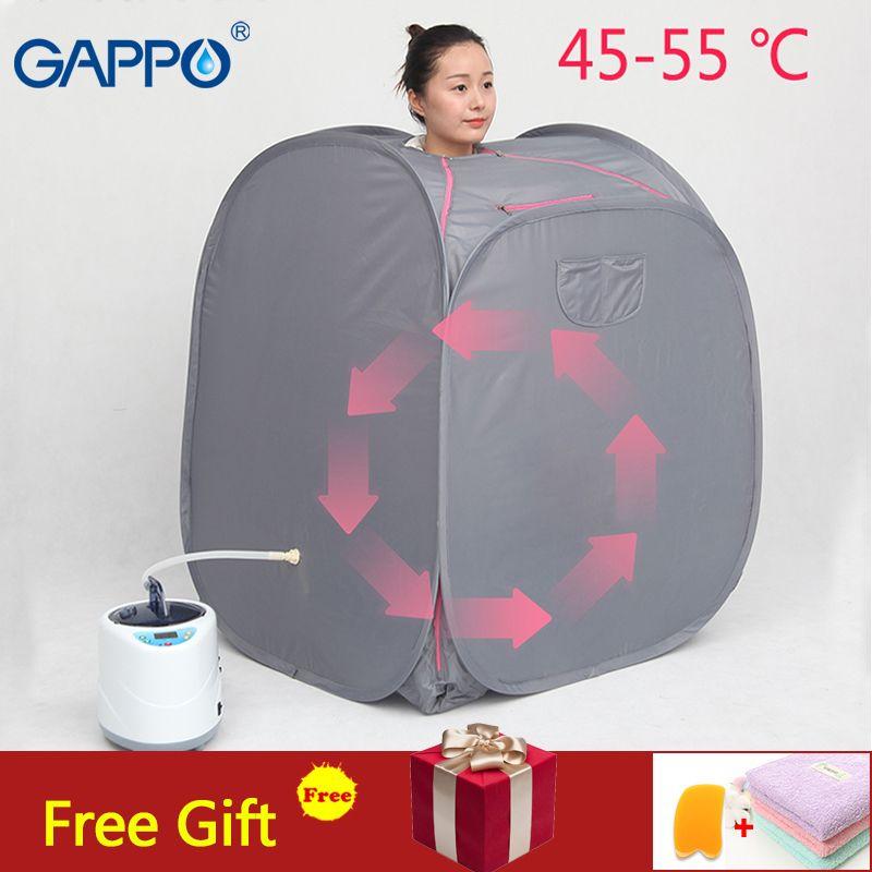 GAPPO Tragbare Dampf Sauna zimmer Vorteilhaft haut infrarot sauna Gewicht verlust Kalorien hause bad SPA dampf generator kapazität 2L