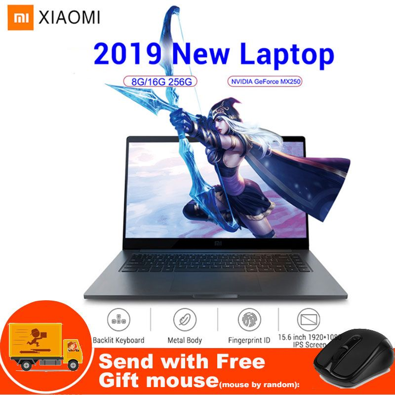 2019 Xiao mi mi Laptop Notebook Pro 15,6 ''Windows10 Intel Quad Core I5/I7 16 GB 256 GB fingerprint ID NVIDIA MX250 Ga mi ng Laptop
