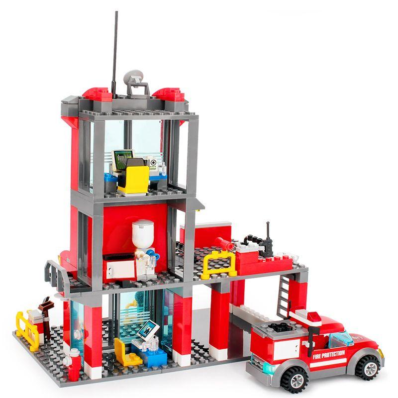 300 + pcs caserne de pompiers bloc de construction pompiers chiffres blocs briques à monter soi-même jouets de construction jouets éducatifs pour enfants cadeau