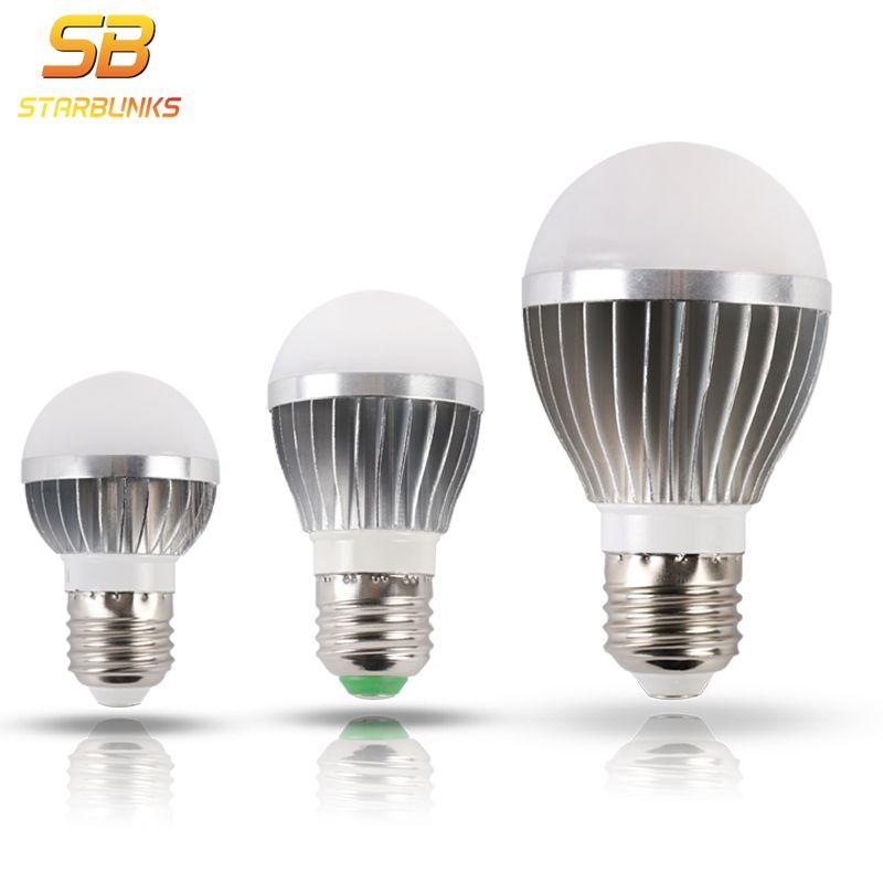 Starbunks светодиодный лампа E27 5 Вт 7 Вт 9 Вт 12 Вт 220 В smart ic реальная Мощность холодной белый/теплый белый лампада ампулы Bombilla светодиодный