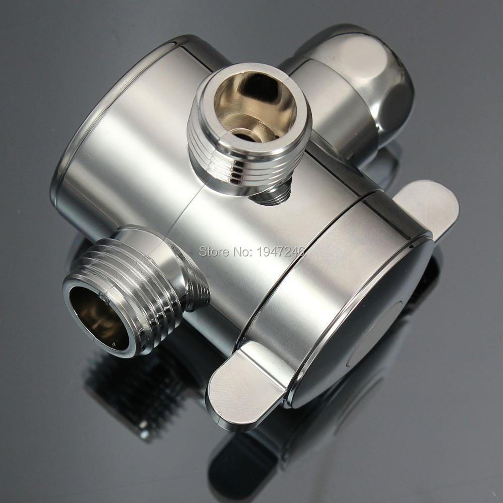 Hohe Qualität ABS Multi Funktion 3 Way Duschkopf Umschaltventil G1/2