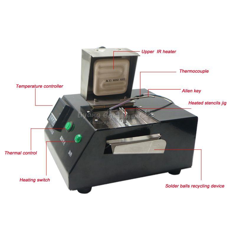 LY M700 BGA reball machine 200W solder with direct heat universal stencil 16 pcs set 220V
