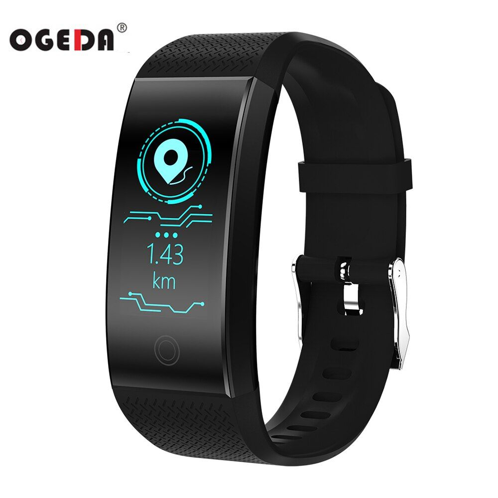 OGEDA Smart Electronics Sport Watch WomenLED Heart Rate Pedometer Waterproof Mens Watches Top Brand Luxury Fitness Watch Alarm