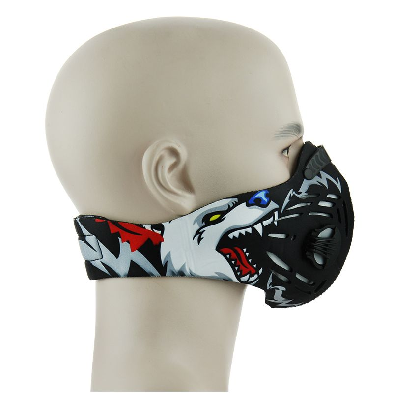 Freie Größe Luftfilter Sport Gesichtsmaske Ausbildung Fahrrad Radfahren Halbe Gesichtsmaske Bike Laufen Jogging Gesichtsmaske Anti Staubschutzmaske