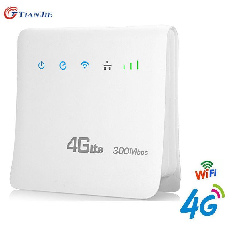 4G LTE CPE Wifi Router FDD TDD Broadband Unlock Mobile Hotspot Wireless Dongle Mifi Gateway with Cat6 300Mbps LAN Port