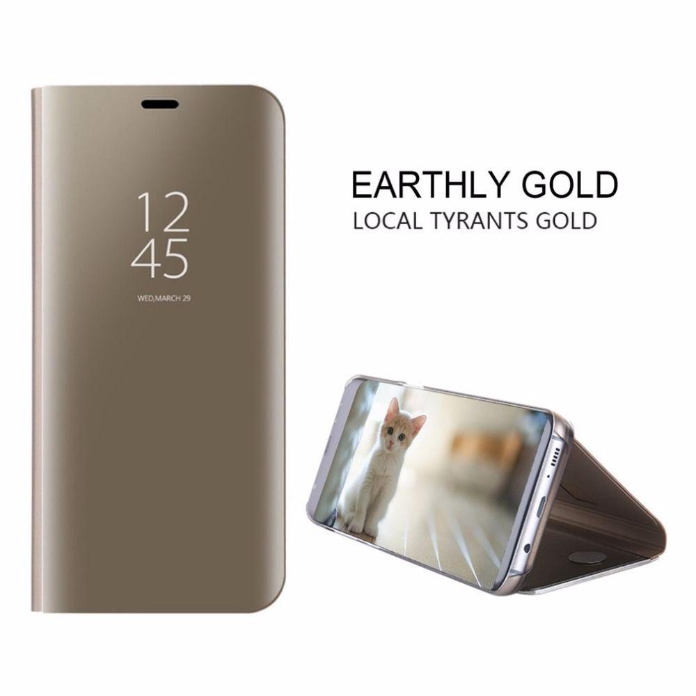 Mode veille Réveil Étui En Cuir Flip pour Samsung Galaxy S8 Flip Housse De Protection Support à Pour Samsung Galaxy S8 Plus