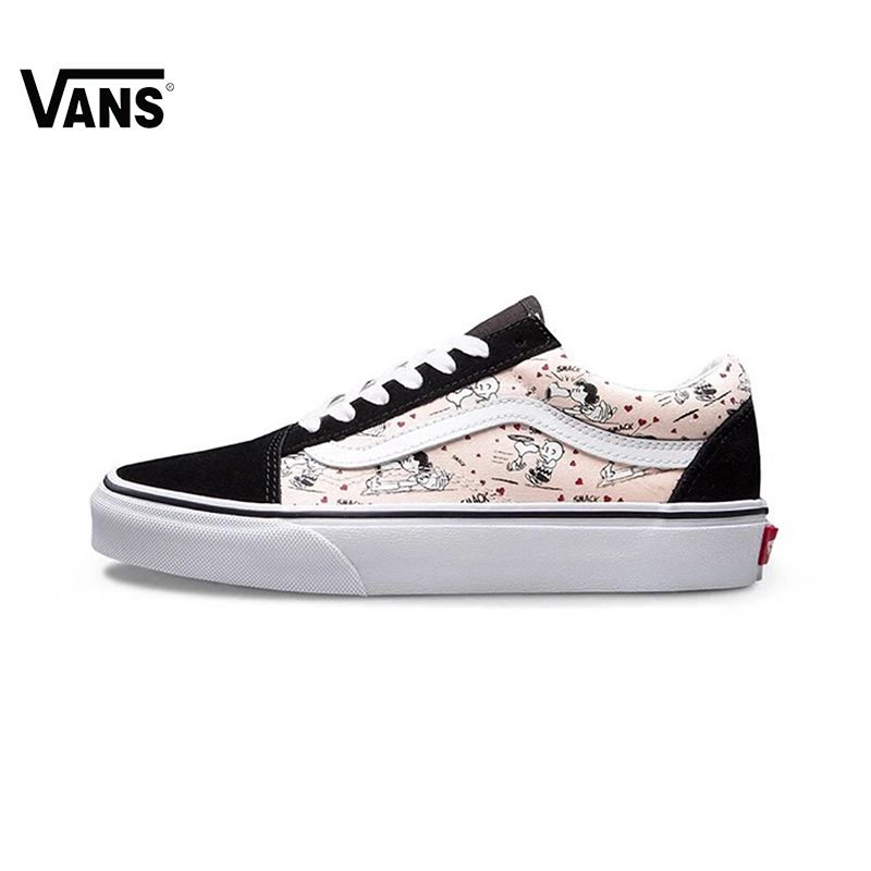 Pink Cartoon Vans Sneakers Low-top Trainers Women Sport Skateboarding Shoes Rubber Waffle Outsole Classic Canvas Vans Shoes