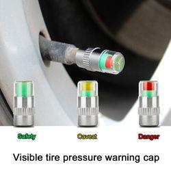4 PCS car auto tire moniteur de pression des pneus gage alerte capteur indicateur valve caps