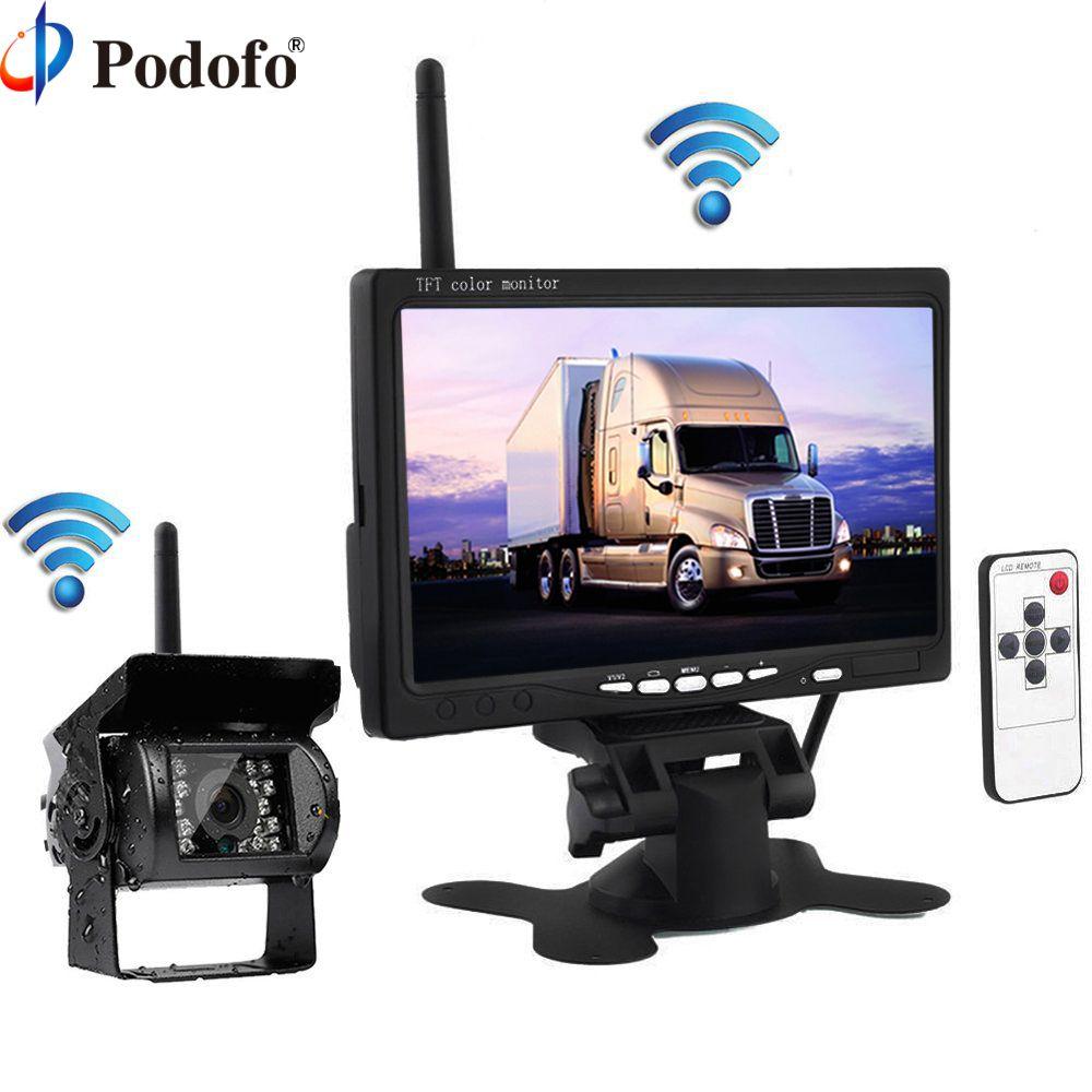 Podofo Wireless Truck Vehicle Car Rear View Backup Camera 7