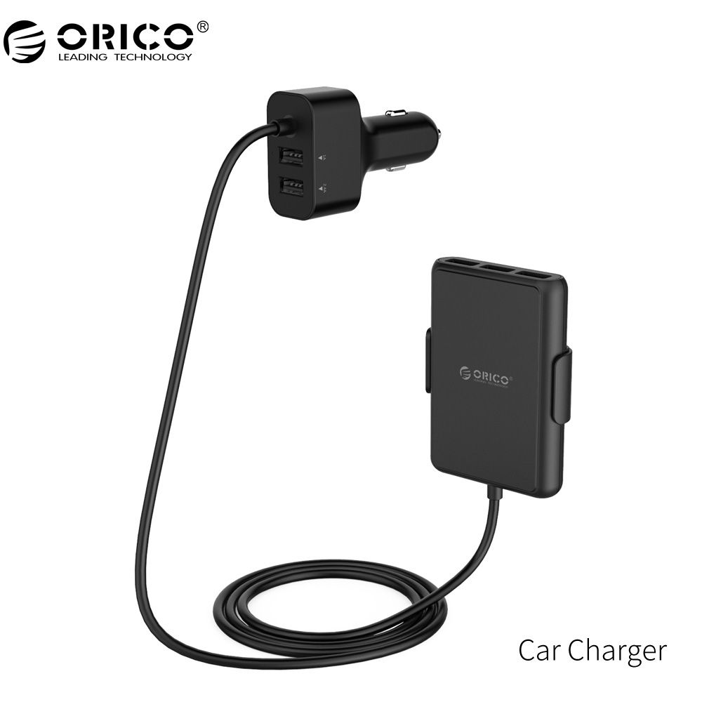 ORICO Car Charger 5 Ports QC3.0 USB Car Charger Universal USB <font><b>Fast</b></font> Adapter 52W for MPV Car Mobile Phones Tablet PC 12V/24V