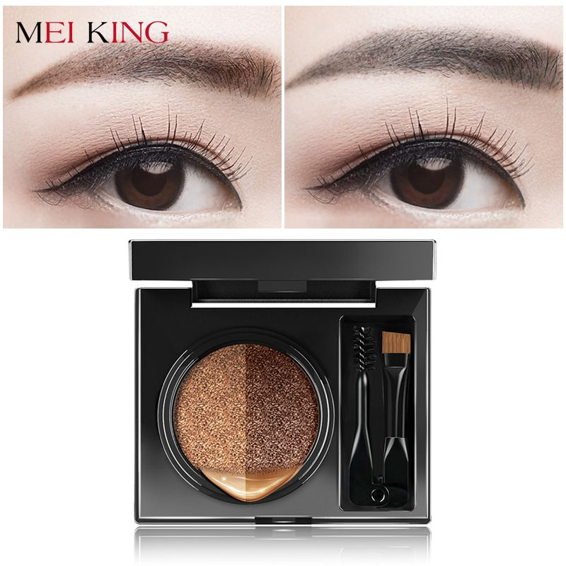 MEIKING Eye Brow Powder Palette Eyebrow Enhancers Women Makeup Eye Shadow +Brush Makeup Waterproof Smudge Proof With Mirror