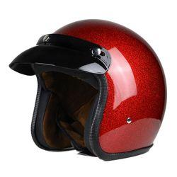 Nuevo Retro Vintage motocicleta casco Moto 3/4 Open Face medio casco Cruiser Touring Chopper Biker Cafe Racer Moto casco