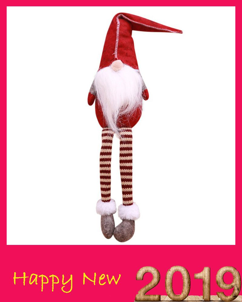 Christmas Decoration Sitting Long-legged Elf Festival New Year Dinner Party Home Christmas Decorations for Home