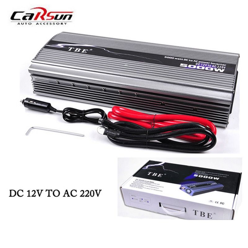 5000W Car Power Inverter DC12V/24V TO AC220V Compact Portable Car Charger Adapter Modified Sine Wave Solar Power Inverter
