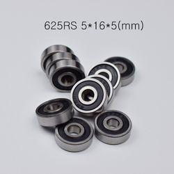 625RS 5*16*5 (мм) Бесплатная доставка подшипник 10 шт. Резина запечатанная миниатюра Мини подшипник 625 625RS хромированная сталь глубокий паз