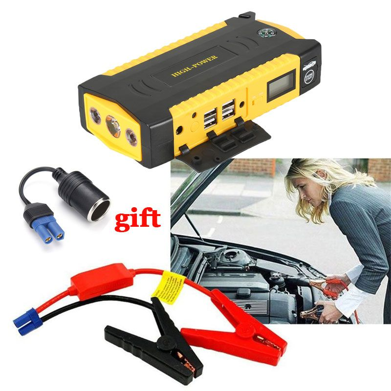 Emergency Starting Device Car Jump Starter 16000mAh Power Bank 12V Portable Car Charger For Battery Diesel Petrol Booster Buster
