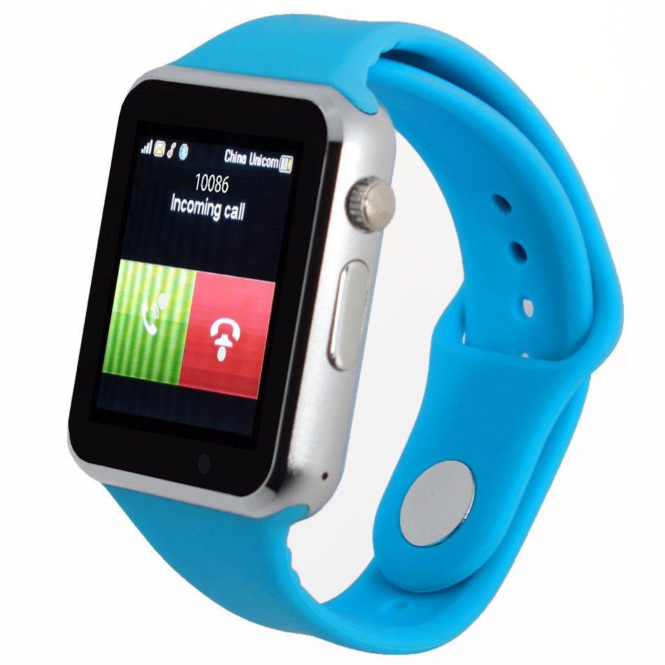 Inteligente Bluetooth Reloj Smartwatch Relogio A1 Android Llamada de Teléfono 2G GSM SIM TF Tarjeta de La Cámara para el iphone Samsung HUAWEI PK GT08
