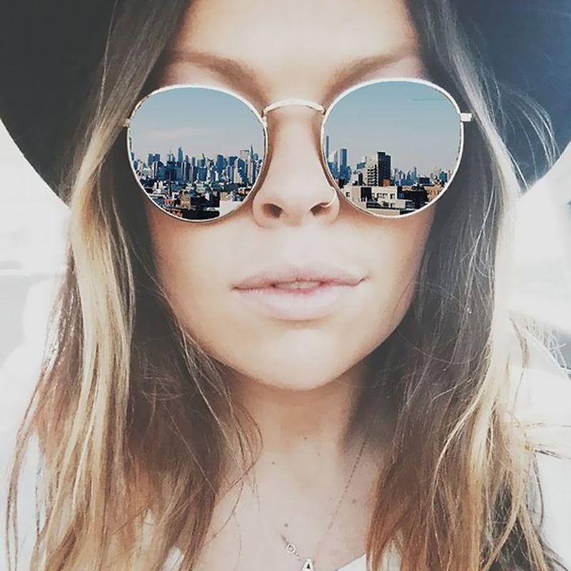2018 retro runde sonnenbrille frauen männer markendesigner sonnenbrille für frauen Legierung spiegel vantge weibliche oculos de sol UV400