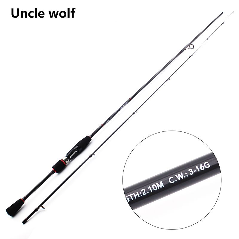Spinning Rod Fast Action 2.1M Ultralight Spinning Rods Canne a Peche Spinning Pour Leurres Carbon rod 3-16g Lure wt. spin olta