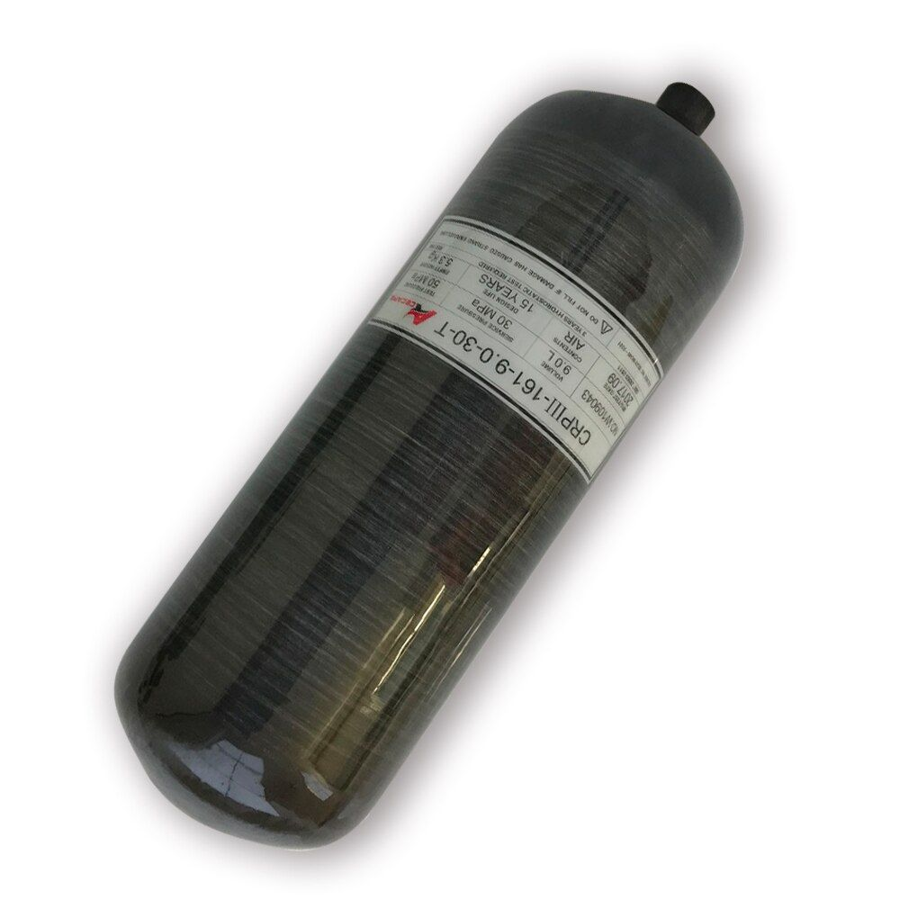 Best New Design Black 9L GB Carbon Fiber Mini Scuba Tank Pcp Paintball Airgun Tank for Pcp Air Rifle/Airforce Oxygen Cylinder-W