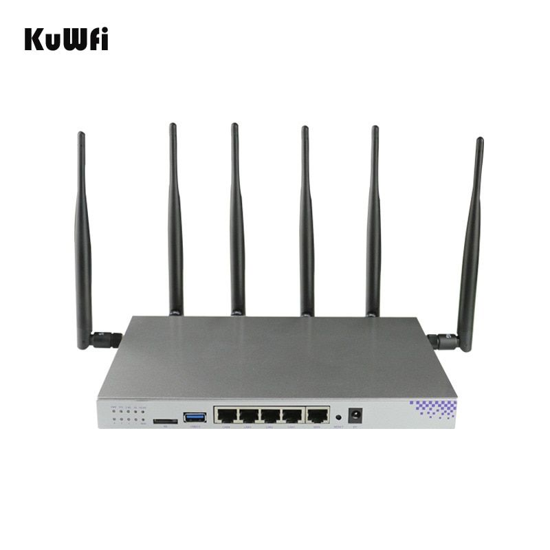 4G SIM Card Wifi Router OpenWrt 1200Mbps 2.4G 5G Dual Band MT7621 Gigabit Port Wireless AP Router with 6 Antennas Wifi Repeater