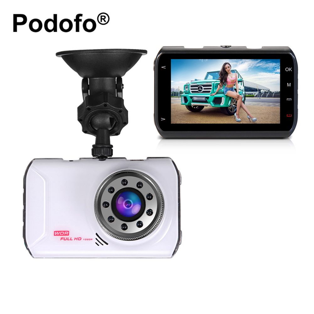 Podofo Novatek 96223 Car DVR 3 Inch Car Camera FHD 1080P WDR G-sensor Night Vision Registrator Video Recorder Dash Cam DVRs