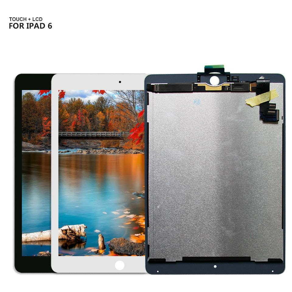 For iPad Air 2 iPad 6 ipad6 Air2 A1567 A1566 lcd display Touch Screen Digitizer Glass Free Shipping