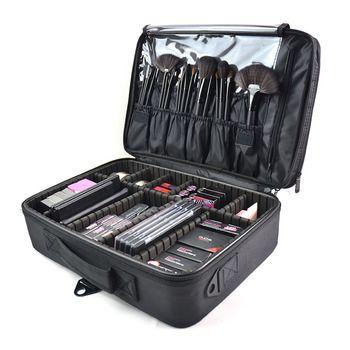 Nueva moda bolsa de cosméticos viajes cosmética organizador cosméticos bolsa de la alta calidad compone el bolso cosmético profesional cosmética caso
