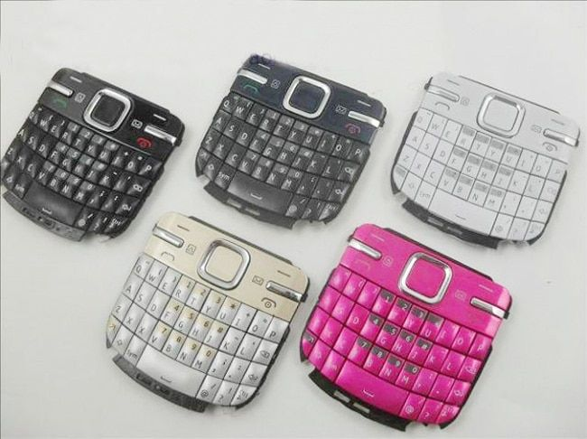 Black/Blue/Gold/Red/White New Ymitn Mobile Phone Housing Cover Case Keypads Keyboards Buttons For Nokia C3 C3-00 C3 00