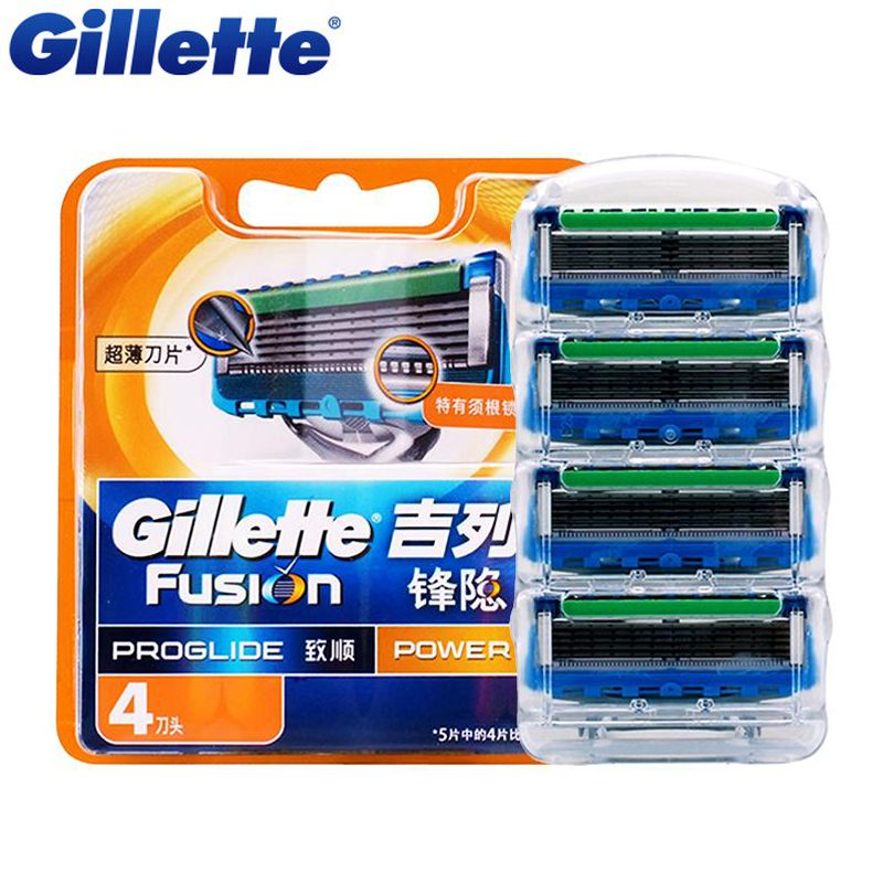 Original Gillette Fusion Proglide Flexball Power Electric Shaving Razor Blades For Men Shave Blade 4Pcs/Pack