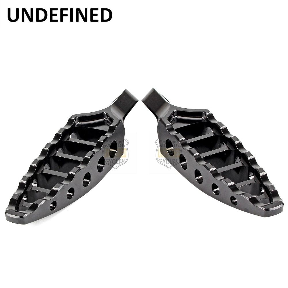 Motorbike Parts 1Pair Black CNC 45 Degrees Male-Mount Aluminum Footrests Foot Pegs For Harley Dyna Fatboy FXD UNDEFINED