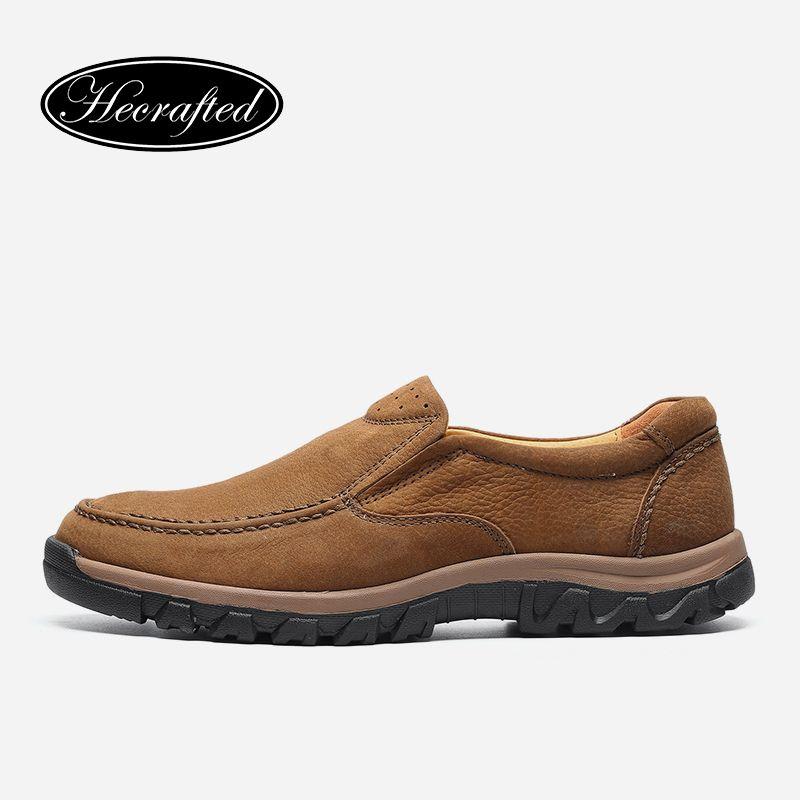 Полное зерно кожа большой размер старинные осень лодыжки походы работы Hecrafted бренда ручной мужчины сапоги # LS8275