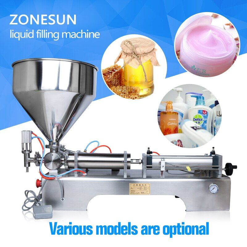 ZONESUN liquid filling machine (10-300ml) pneumatic volumetric Softdrin(pneumatic liquid filler for oil water juice honey soap